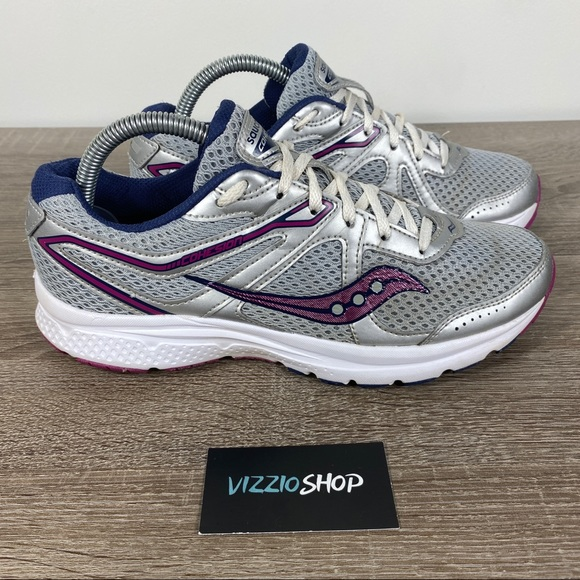 Saucony Grid Cohesion 11 Running Womens Shoes Size 8 Navy Pink S10420-16